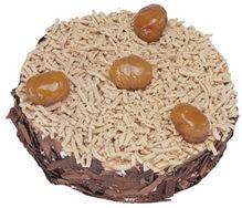 Kestahaneli yas pasta 4 ile 6 kisilik pasta  Aydın çiçek siparişi sitesi