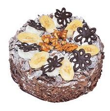 Muzlu çikolatali yas pasta 4 ile 6 kisilik   Aydın uluslararası çiçek gönderme