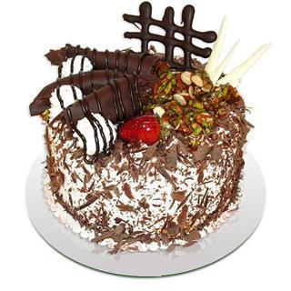 4 ile 6 kisilik çikolatali yas pasta  Aydın kaliteli taze ve ucuz çiçekler