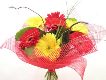 9 adet gerbera çiçeklerinden buket  Aydın çiçek satışı