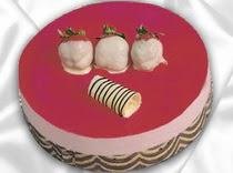 pasta siparisi 4 ile 6 kisilik yas pasta çilekli yaspasta  Aydın çiçek servisi , çiçekçi adresleri