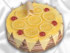 taze pastaci 4 ile 6 kisilik yas pasta limonlu yaspasta  Aydın online çiçek gönderme sipariş