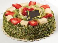 pasta gönder  4 ile 6 kisilik karisik meyvali yas pasta  Aydın internetten çiçek siparişi