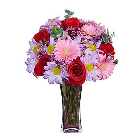 Görsel hediye karisik cam mevsim demeti  Aydın çiçekçi mağazası