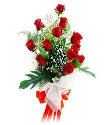 11 adet kirmizi güllerden görsel sölen buket  Aydın çiçek siparişi vermek