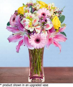 Anneme hediye karisik cam mevsim demeti  Aydın internetten çiçek siparişi