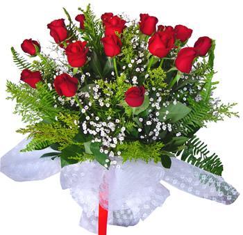 11 adet gösterisli kirmizi gül buketi  Aydın internetten çiçek satışı