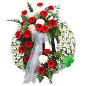 Cenaze çelengi cenaze çiçek modeli  Aydın uluslararası çiçek gönderme