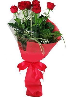 7 adet kirmizi gül buketi  Aydın çiçek yolla , çiçek gönder , çiçekçi