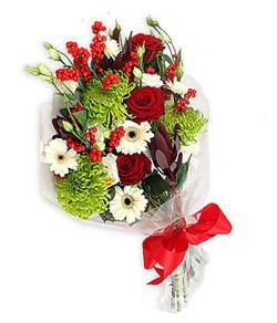 Karisik mevsim buketi çiçek tanzimi  Aydın internetten çiçek siparişi