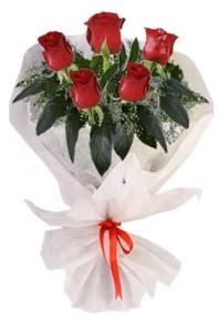 5 adet kirmizi gül buketi  Aydın çiçekçiler