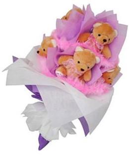 9 adet ayiciktan buket  Aydın hediye sevgilime hediye çiçek
