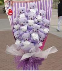 11 adet pelus ayicik buketi  Aydın çiçek gönderme sitemiz güvenlidir