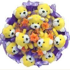 11 adet pelus ayicik buketi  Aydın çiçek mağazası , çiçekçi adresleri