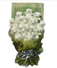 11 adet pelus ayicik buketi  Aydın online çiçek gönderme sipariş