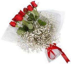 7 adet essiz kalitede kirmizi gül buketi  Aydın hediye sevgilime hediye çiçek