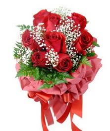 9 adet en kaliteli gülden kirmizi buket  Aydın çiçek servisi , çiçekçi adresleri