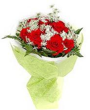 Aydın çiçek , çiçekçi , çiçekçilik  7 adet kirmizi gül buketi tanzimi