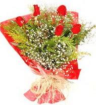 Aydın anneler günü çiçek yolla  5 adet kirmizi gül buketi demeti