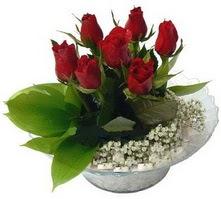 Aydın internetten çiçek satışı  cam yada mika içerisinde 5 adet kirmizi gül