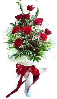 Aydın ucuz çiçek gönder  10 adet kirmizi gül buketi demeti