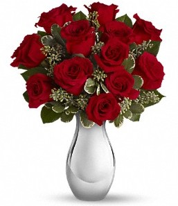 Aydın çiçek siparişi vermek   vazo içerisinde 11 adet kırmızı gül tanzimi