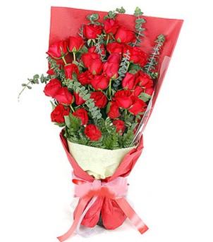 Aydın çiçek gönderme  37 adet kırmızı güllerden buket