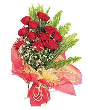 Aydın İnternetten çiçek siparişi  11 adet kırmızı güllerden buket modeli
