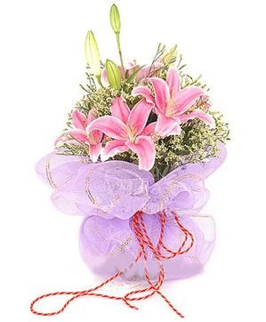 3 dal kazablanka görsel buketi  Aydın internetten çiçek satışı