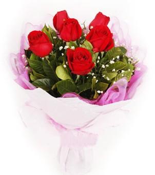 Aydın hediye sevgilime hediye çiçek  kırmızı 6 adet gülden buket