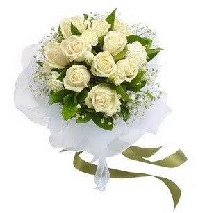 Aydın online çiçekçi , çiçek siparişi  11 adet benbeyaz güllerden buket