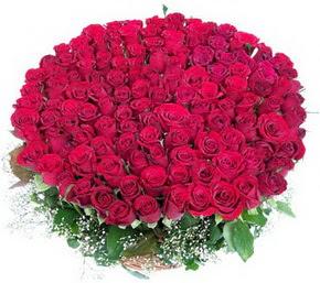 Aydın online çiçekçi , çiçek siparişi  100 adet kırmızı gülden görsel buket