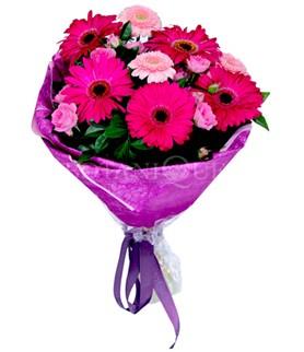 Aydın çiçek siparişi sitesi  karışık gerbera çiçeği buketi