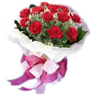 Aydın çiçek satışı  11 adet kırmızı güllerden buket modeli