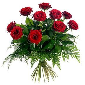 Aydın çiçek gönderme  10 adet kırmızı gülden buket