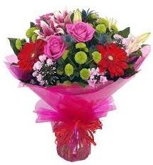 Karışık mevsim çiçekleri demeti  Aydın online çiçek gönderme sipariş