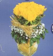 Aydın anneler günü çiçek yolla  Cam vazoda 9 Sari gül