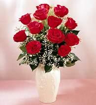 Aydın çiçekçi mağazası  9 adet vazoda özel tanzim kirmizi gül