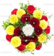 Aydın çiçekçi mağazası  13 adet mevsim çiçeğinden görsel buket