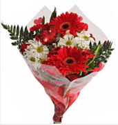Mevsim çiçeklerinden görsel buket  Aydın çiçekçiler