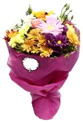 1 demet karışık görsel buket  Aydın anneler günü çiçek yolla