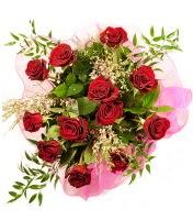 12 adet kırmızı gül buketi  Aydın 14 şubat sevgililer günü çiçek