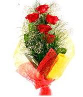 5 li kırmızı gül buketi  Aydın internetten çiçek satışı