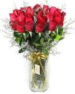 27 adet vazo içerisinde kırmızı gül  Aydın İnternetten çiçek siparişi