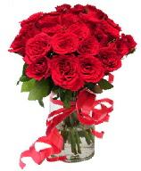 21 adet vazo içerisinde kırmızı gül  Aydın çiçek satışı