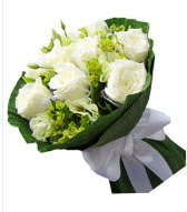 9 adet beyaz gül buketi  Aydın çiçek siparişi sitesi