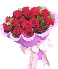 12 adet kırmızı gülden görsel buket  Aydın çiçekçi mağazası