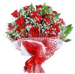 11 kırmızı gülden buket  Aydın 14 şubat sevgililer günü çiçek