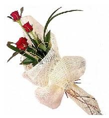 3 adet kırmızı gül buketi  Aydın güvenli kaliteli hızlı çiçek