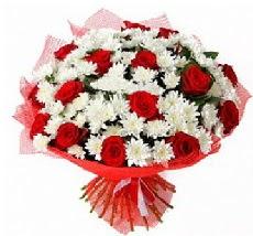 11 adet kırmızı gül ve 1 demet krizantem  Aydın çiçek mağazası , çiçekçi adresleri